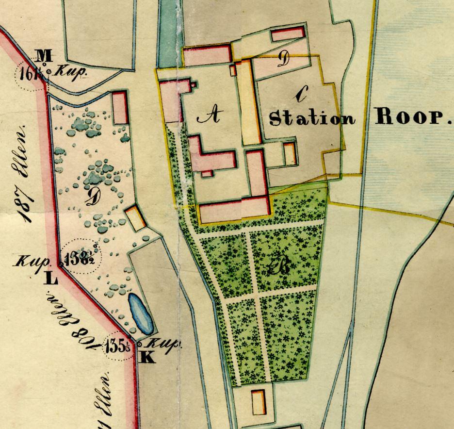 Straupes zirgu pasta 1841. gada uzmērījuma fragments.